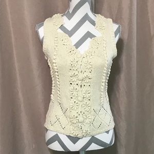 XL cream knit vest from Laixin-Sweater